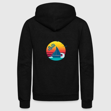 Retro Vintage Split Sunset, #Split - Unisex Fleece Zip Hoodie