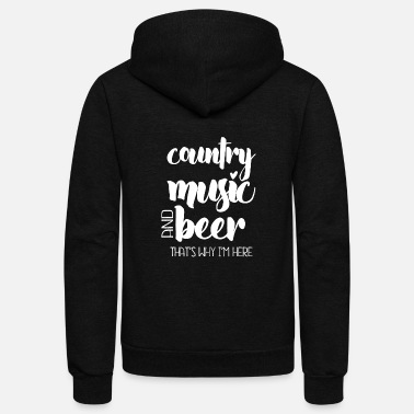Beer Country Music and Beer - Unisex Fleece Zip Hoodie