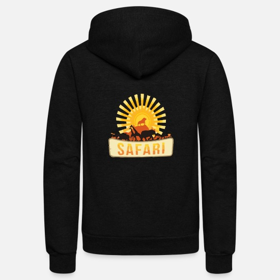 Safari Hoodies & Sweatshirts - Safari - Unisex Fleece Zip Hoodie black