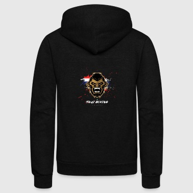 thai boxing Monkey - Unisex Fleece Zip Hoodie