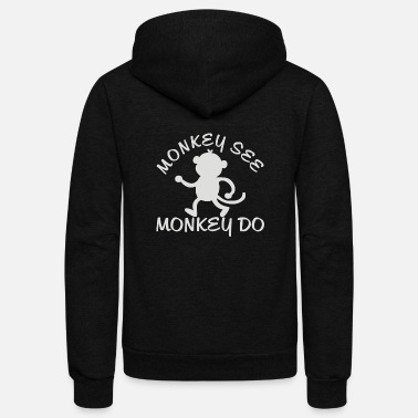 Teenager Monkey Teenage - Unisex Fleece Zip Hoodie