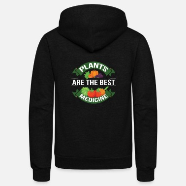 Medicinal Plant Plant Based Diet Are The Best Medicine - Unisex Fleece Zip Hoodie