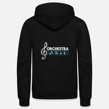 Classical Music Orchestra classical music gift present - Unisex Fleece Zip Hoodie