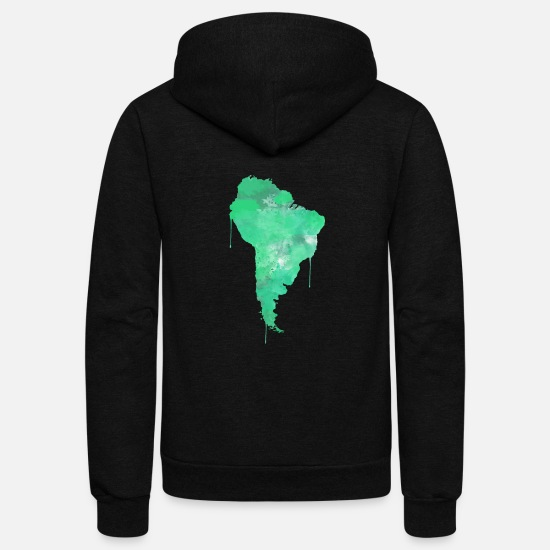 South America Hoodies & Sweatshirts - South America - Unisex Fleece Zip Hoodie black