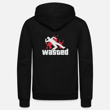 Gta Wasted GTA PS4 GTA Online Game Gamer - Unisex Fleece Zip Hoodie