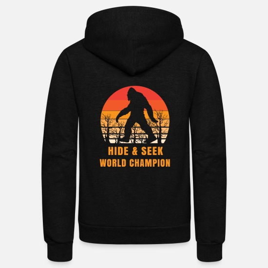 Hide Hoodies & Sweatshirts - bigfoot t-shirt World Champion - Unisex Fleece Zip Hoodie black