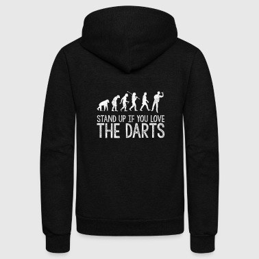 darts dartshirt dart evolution stand up for darts - Unisex Fleece Zip Hoodie