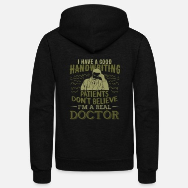 Handwriting Doctor - Good Handwriting - Unisex Fleece Zip Hoodie