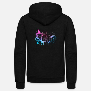 Music Dogs are music in my eyes gift - Unisex Fleece Zip Hoodie