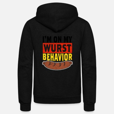 Germany Wurst Behavior Oktoberfest Shirt - Unisex Fleece Zip Hoodie