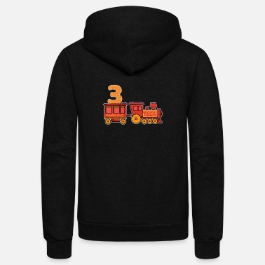 Steam Locomotive 3 birthday locomotive steam locomotive - Unisex Fleece Zip Hoodie