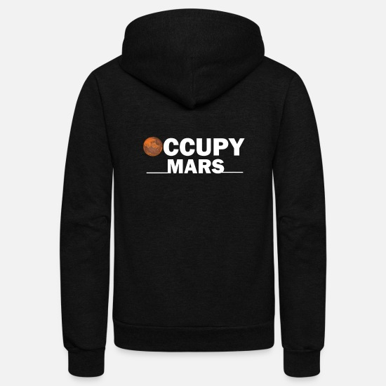Mars Hoodies & Sweatshirts - Occupy Mars T shirt - Unisex Fleece Zip Hoodie black