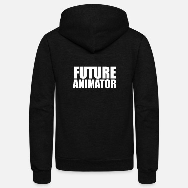 High School Graduate Future Animator College High School Graduate Graduation - Unisex Fleece Zip Hoodie
