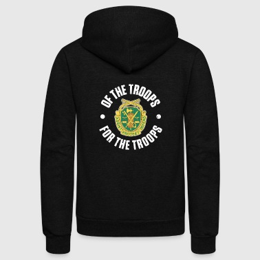 Troops MP Emblem Of the Troops for the Troops - Unisex Fleece Zip Hoodie