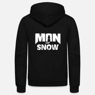 Snowman Man of Snow Snowman cool snowman gift - Unisex Fleece Zip Hoodie