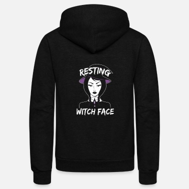 Resting Witch Face Kopie - Unisex Fleece Zip Hoodie