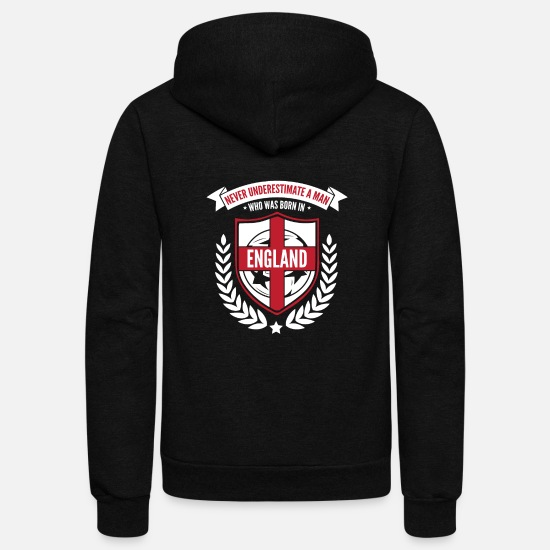 National Team Hoodies & Sweatshirts - England - Unisex Fleece Zip Hoodie black