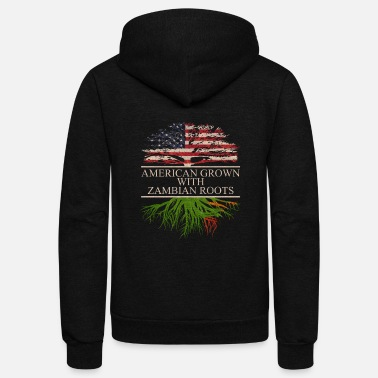 American With Zambian Roots American grown with Zambian Roots - Unisex Fleece Zip Hoodie