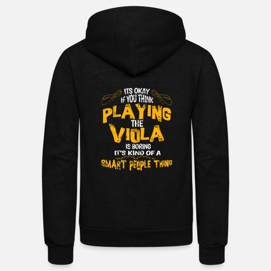 Viola Hoodies & Sweatshirts - Playing Viola Orchestra Concert Symphony Gift Idea - Unisex Fleece Zip Hoodie black