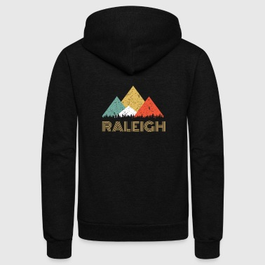 Raleigh Retro City of Raleigh Mountain Shirt - Unisex Fleece Zip Hoodie