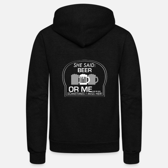 Photographer Hoodies & Sweatshirts - Beer Liquor Funny Gift - Unisex Fleece Zip Hoodie black