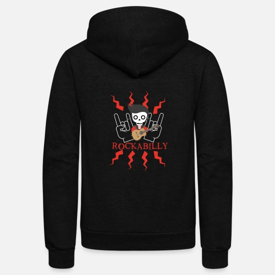 Rockabilly Hoodies & Sweatshirts - Rockabilly - Unisex Fleece Zip Hoodie black