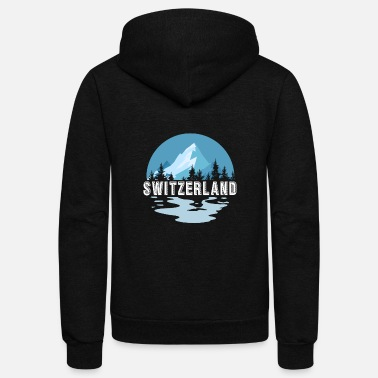 Switzerland Switzerland gift cheese flag map - Unisex Fleece Zip Hoodie