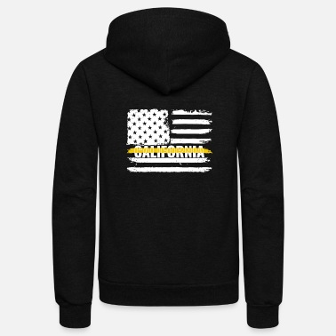 Gold California 911 Emergency Dispatcher Gift for - Unisex Fleece Zip Hoodie