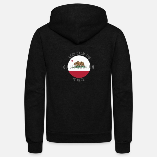 California Hoodies & Sweatshirts - California Republic - Unisex Fleece Zip Hoodie black