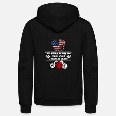 American machine Japanese gears - Unisex Fleece Zip Hoodie