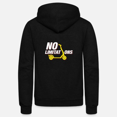 No Limit No Limits No Limitations Stunt Scooter Gift - Unisex Fleece Zip Hoodie