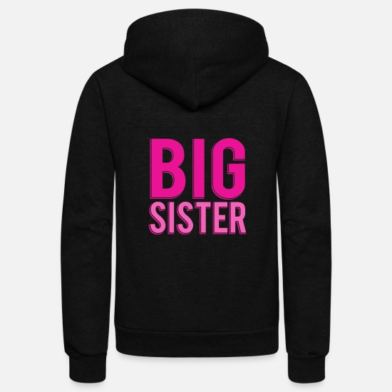 Big Hoodies & Sweatshirts - Big Sister - Unisex Fleece Zip Hoodie black