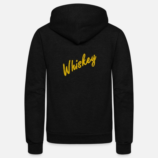 Whiskey Hoodies & Sweatshirts - Whiskey - Unisex Fleece Zip Hoodie black