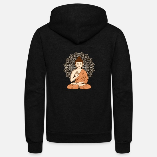 Love Hoodies & Sweatshirts - Buddhism - Unisex Fleece Zip Hoodie black