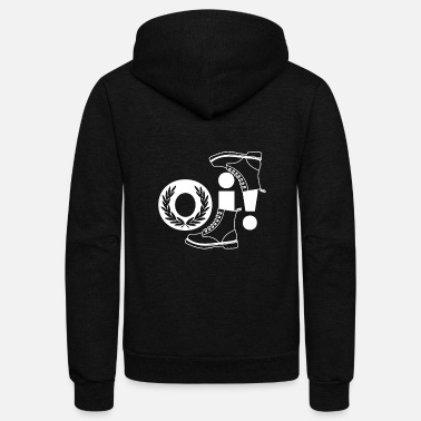 Skinhead Oi Punk design, Gift for Skinheads, Ska and - Unisex Fleece Zip Hoodie