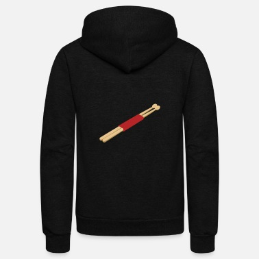 drum sticks drummer gift instrument music song - Unisex Fleece Zip Hoodie