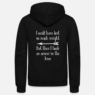 Arrow I Could Have Lost So Much Weight But My Knee Arrow - Unisex Fleece Zip Hoodie