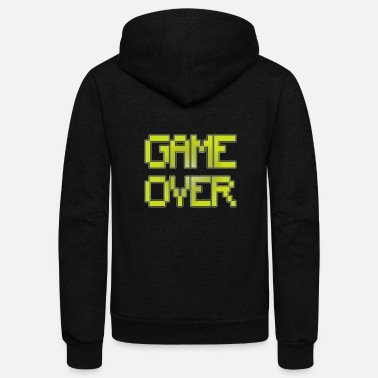 Retro Gaming Retro Gaming Game Over - Unisex Fleece Zip Hoodie