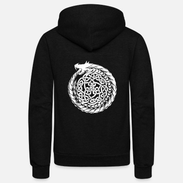 Celtic Celtic T Shirt Irish Dragon Knot Circle Ireland St - Unisex Fleece Zip Hoodie