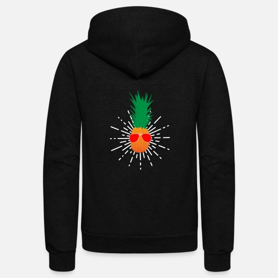 Fiesta Hoodies & Sweatshirts - Pineapple Sun Mexican Taco Tacos Fiesta - Unisex Fleece Zip Hoodie black