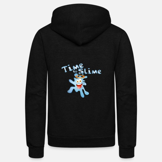 Birthday Hoodies & Sweatshirts - Time for slime toys Children Disgusting Gifts - Unisex Fleece Zip Hoodie black