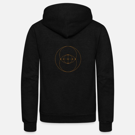 Sacred Geometry - The Vesica Piscis Eye Unisex Fleece Zip Hoodie - black