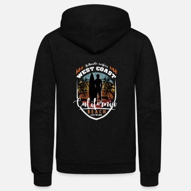 west coast California for authentic surfer - Unisex Fleece Zip Hoodie