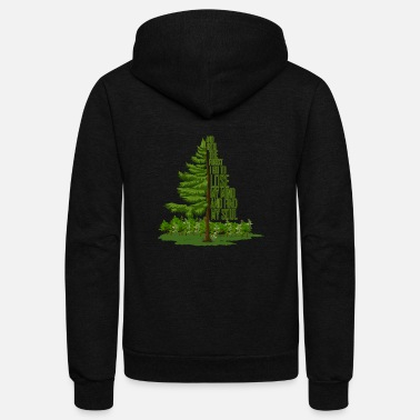 Forest Into The Forest I Go To Lose.. Nature Shirt - Unisex Fleece Zip Hoodie