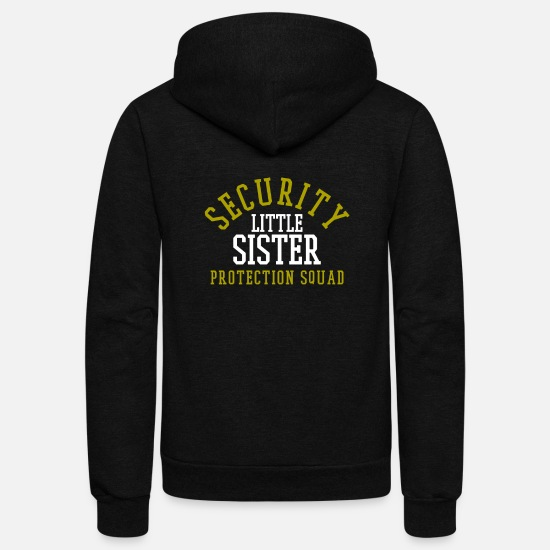 Security Hoodies & Sweatshirts - Big Brother Little Sister - Unisex Fleece Zip Hoodie black