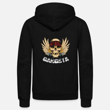 Skull Gangsta Skull Hot Blood - Unisex Fleece Zip Hoodie