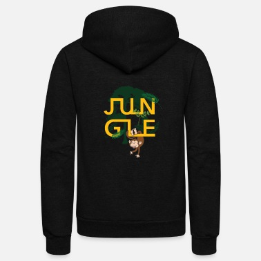 Junglecontest Jungle Animals Ape Monkey Nature Gift Idea Tropic - Unisex Fleece Zip Hoodie