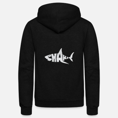 Great White Shark Shark nature sea fish animal life biology gift - Unisex Fleece Zip Hoodie