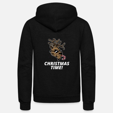 funny Christmas t shirt design - Unisex Fleece Zip Hoodie