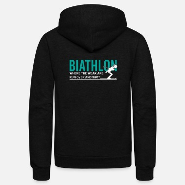 Funny Game biathlon biatlon fans WM Teac Quote funny awesome - Unisex Fleece Zip Hoodie